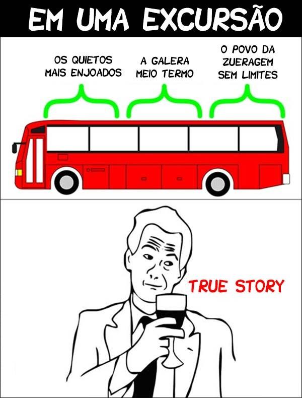 No ônibus da excursão do colégio